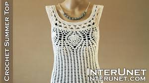 Crochet Tank Top Pattern Impressive Crochet Pineapple Stitch Tank Top Lace Blouse Crochet Pattern