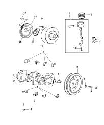 2007 Jeep Wrangler Crankshaft, Pistons, Torque Converter & Flywheel ...