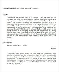 essay examples economics sample