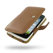 Sharp SH530U Leather Flip Cover (Brown ...