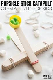 Simple Catapult Design Popsicle Stick Catapult For Kids Stem Activity Diy
