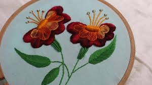 Stitch N Time Embroidery Designs Hand Embroidery Designs Jacobean Flower Design Stitch