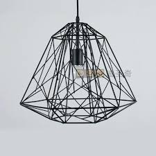 wire pendant light classic vintage black and white iron cage bird nest living room fashion design