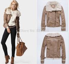 fur leather lapel zipper aviator jacket suede fabric leather jacket women pilot er jacket leather with fur jaqueta de couro fabric ornament jacket