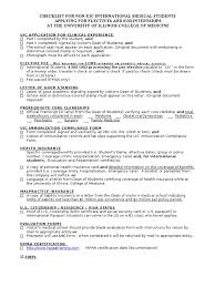 Checklist For International Student 10 15 2010 Medical School