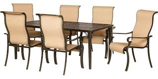 Aluminum Outdoor Dining Table Hanover 7 Piece Outdoor Dining Patio Set Brigantine7pc