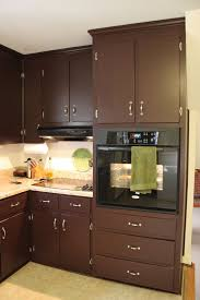 Color Paint For Kitchen Contemporary Dark Brown Painted Kitchen Cabinets Home
