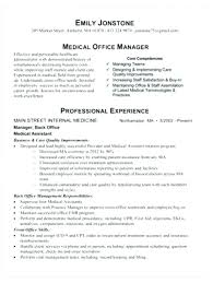 Sample Resume Objectives Medical Office Manager Lovely For Purchase