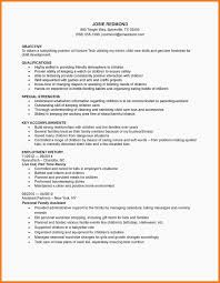 Babysitter Resume Sow Template
