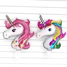 <b>1pcs</b> 18 inch <b>unicorn</b> Flowers Balloon globos <b>Children's birthday</b> ...
