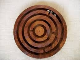 Wooden Maze Game With Ball Bearing Handmade Handcrafted Hand Carved Wooden Maze Game 100 8