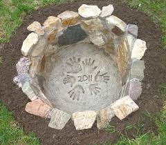 """17 diy fire pit ideas for your backyard your house description 42"""" round modern fiber concrete fire pit table"""