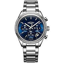 men s watches designer fashion watches h samuel rotary men s stainless steel blue dial bracelet watch product number 5221803