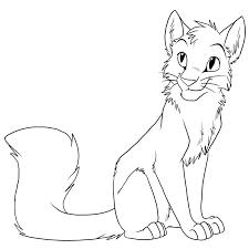 cat drawing outline. Exellent Outline Warrior Cat Drawing Outline Friwm On T