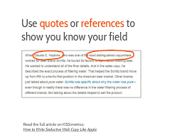 Use Quotes Or References To