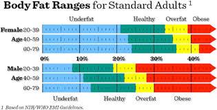 Nih Body Fat Percentage Chart Body Fat Percentage Nyc