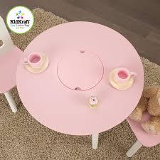 Kidkraft Heart Table And Chair Set Amazoncom Kidkraft Round Table And 2 Chair Set White Pink Toys