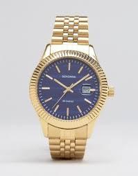 men s watches digital designer watches asos sekonda gold bracelet watch blue dial exclusive to asos