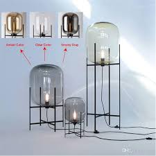 glass floor lamp. Nordic Style Glass Floor Lamp Retro Melon Lights Fashion Design Table Lamps For .