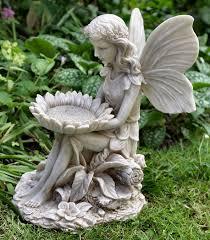 garden fairies statues. Garden Fairy Statues   Sitting With Sunflower Ornament - Fairies I