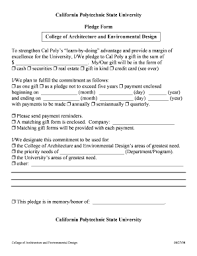 Fillable Online Caed Calpoly Pledge Form (.pdf) - College Of ...