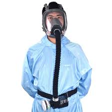 electric constant flow supplied air fed full face gas mask spray painting tool respirator system cod