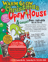christmas open house flyer warm glow hand crafted lumpy bumpy candles