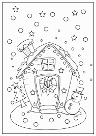 Gingerbread Coloring Pages Luxury Gingerbread House Coloring Pages