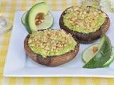 avocado stuffed portobello mushrooms