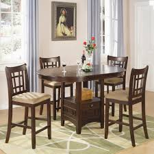 coaster lavon 5 piece counter table and chair set item number 100888n 4x889n
