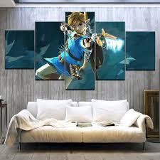 <b>5 Panel HD Print</b> The Legend of Zelda: Breath of the Wild game wall ...
