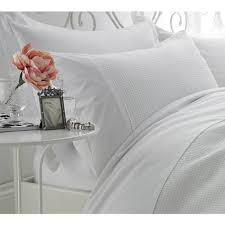 waffle luxury white bed linen