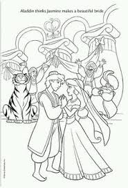 Jasmine And Aladdin Wedding Coloring Pages Unique Aladdin Coloring