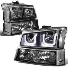 Lights For 2006 Chevy Silverado 2003 2006 Chevy Silverado Smoked Headlights Car Truck