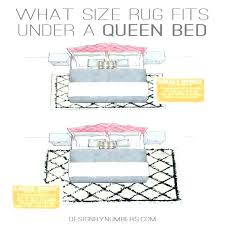 area rug layout under queen bed for home decorating ideas luxury bedroom placement rules id what size area rug under queen