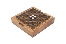Wooden Peg Board Game Flip It Wooden Peg Puzzle a Portable form of Go 18
