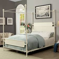 Beatrix Transitional California King Canopy Bed by Furniture of America at Rooms for Less