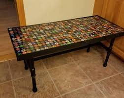 bottle cap furniture. Bottle Cap Coffee Table | Resin Living Room Furniture Man Cave