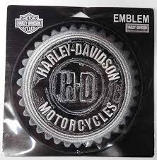 harley davidson black grey gear emblem patch em539542 hd27