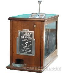 Wooden Vending Machine Custom CoinOp Wooden Duplex US Postage Stamp Vending Machine