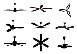 free ceiling fan icons vector