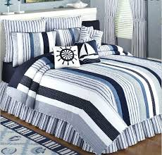 blue striped quilt and white duvet cover uk