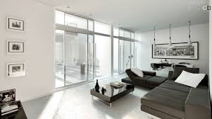 White On White Living Room Decorating Modern Style Architectural Renders