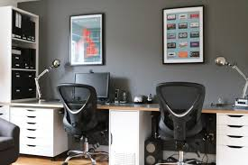 home office wall. Interior:Home Office Shelving Units Cabinets White Desk Work Study Table Unit Interior Ideas Wall Home