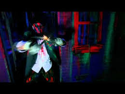 haunted house lighting ideas. this site has many good pics of haunted house black light scenes lighting ideas r