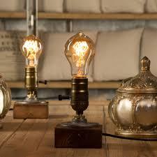 edison table lamp vintage home lighting. Dimmer Vintage Industrial Decor Table Light Edison Bulb Wood Desk Lamp  Retro Home Lighting Antique Edison Table Lamp Vintage Home Lighting L