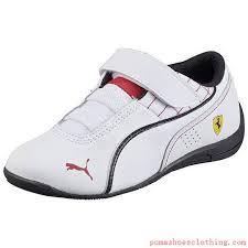 puma kids shoes. ferrari drift cat 6 v trainers white-white-black pu30518004,puma online store puma kids shoes