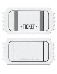 Free Printable Train Ticket Template Blank Movie Ticket Invitation
