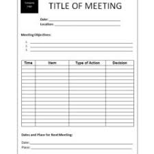 Blank And Editable Board Or Committee Meeting Agenda Format And