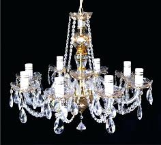 how to clean vintage crystal chandelier rock
